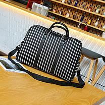 Большая женская сумка в полоску, фото 3