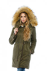 Куртка парка женская зимняя удлиненная в 4х цветах П-9