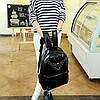 Большой готический рюкзак для школы с заклепками и черепом, фото 3