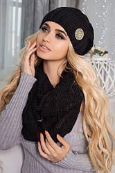 Комплект шапка и шарф крупной вязки 4418-8