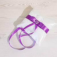 """Подушечка для обручальных колец с коллекции """"Серце"""" (фиолетовый цвет)"""