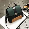 Модна сумка скриня з замшевими вставками, фото 3