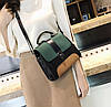 Модная сумка сундук с замшевыми вставками, фото 4