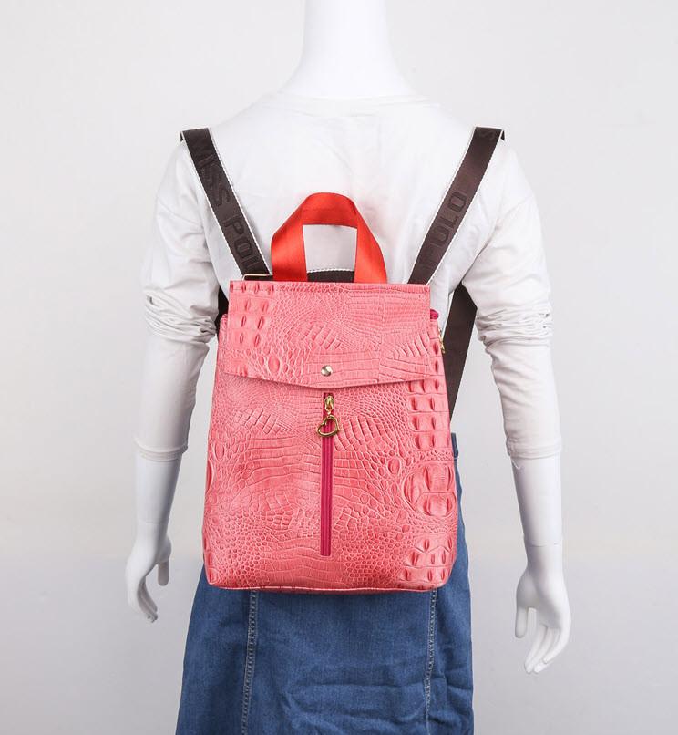 Рюкзак под кожу питона для модных девушек