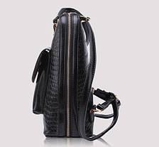 Дизайнерский женский рюкзак-сумка под крокодил , фото 3