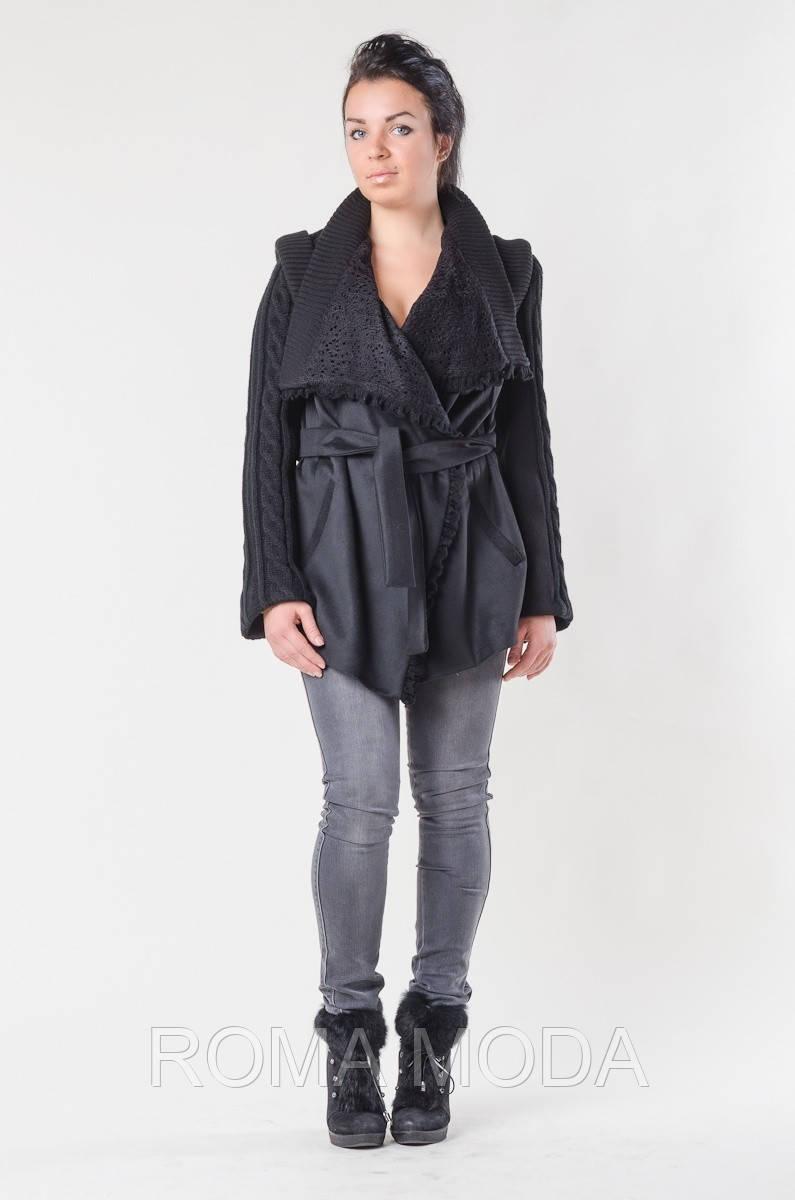 Пальто вязаное в 2х цветах Лоран