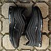 "Мужские кроссовки Nike Air Max 97 ""Black"" (Найк Аир Макс) черные, фото 7"