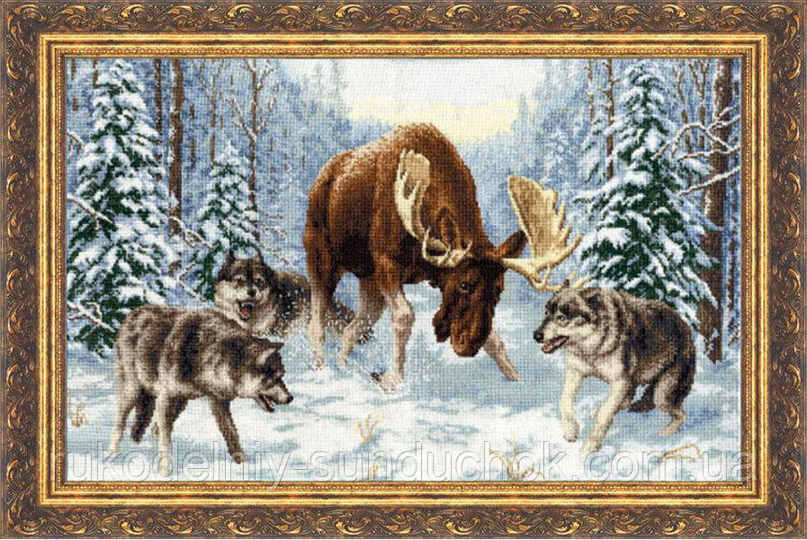 """Набор для вышивания крестом ТМ Золотое Руно """"Встреча в лесу. Дикие животные """" ДЖ-013"""
