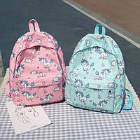 Школьный рюкзак с ЕДИНОРОГАМИ, фото 1