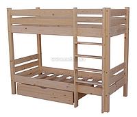 Кровать двоповерхова / двоярусна з шухлядами