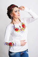Нежная Трикотажная женская вышиванка 44-56 рр