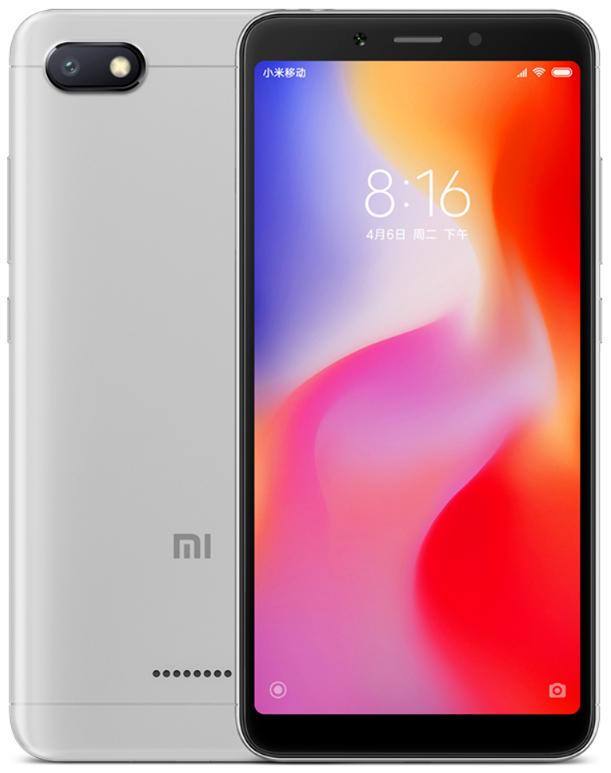 "Xiaomi Redmi 6A Grey 2/16 Gb, 5.45"", Helio A22, 3G, 4G (Global)"