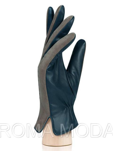 Мужские перчатки кожаные комбинированные в 2х цветах IS8218