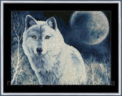 """Набір для вишивання хрестом ТМ Золоте Руно """"Білий вовк. Дикі тварини """" ДЖ-029"""