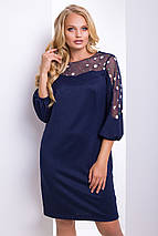 Женское платье с сеткой на рукавах больших размеров (Гербера lzn), фото 3