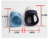 Силіконові наперстки 2 шт (великий і маленький), фото 5