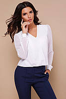 Ошатна біла жіноча блуза, фото 1