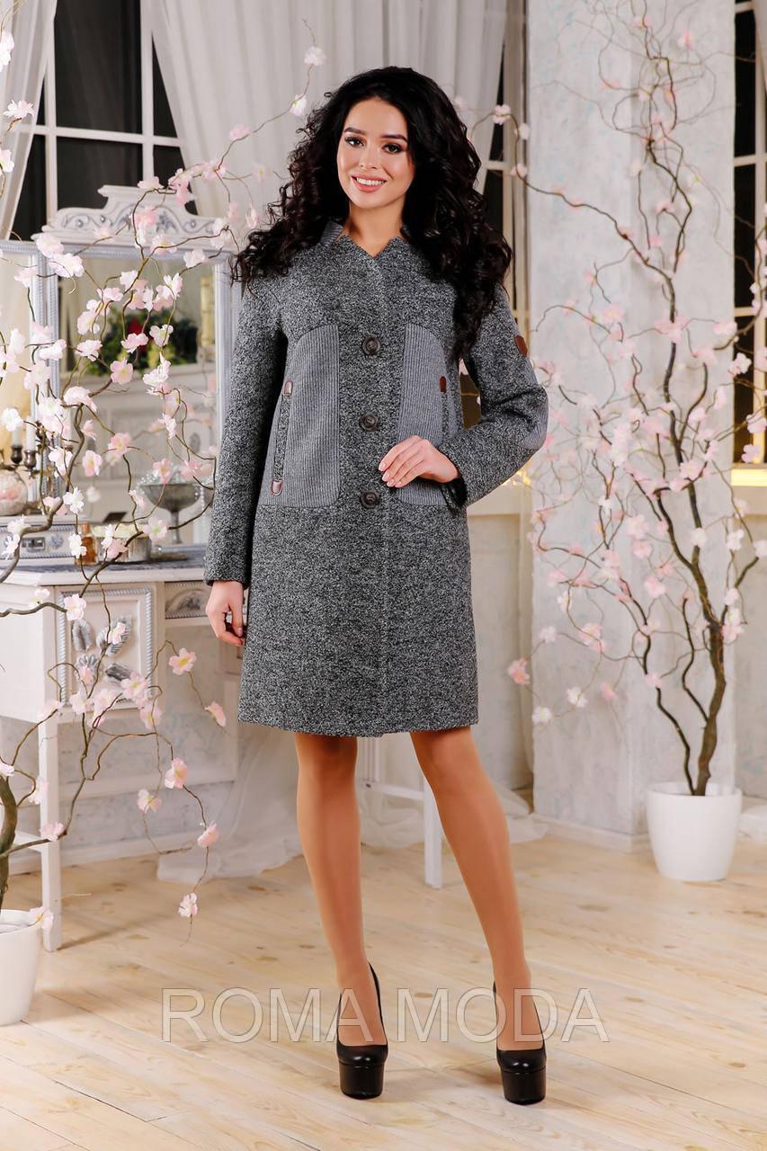 Модное женское демисезонное пальто в 3х цветах В-1093 Aрт.160406