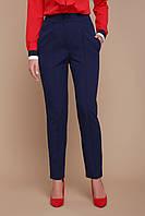 Женские классические брюки темно-синего цвета, фото 1