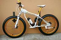 Фэтбайк велосипед электронный мощность 350 Вт с широкими колесами FERRARI FATBIKE + LCD  Белый
