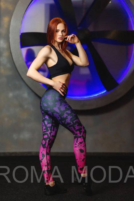Лосины женские для фитнеса яркие ST5
