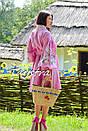 Плетеная Сумка ручной работы декорированная в этно стиле, фото 2