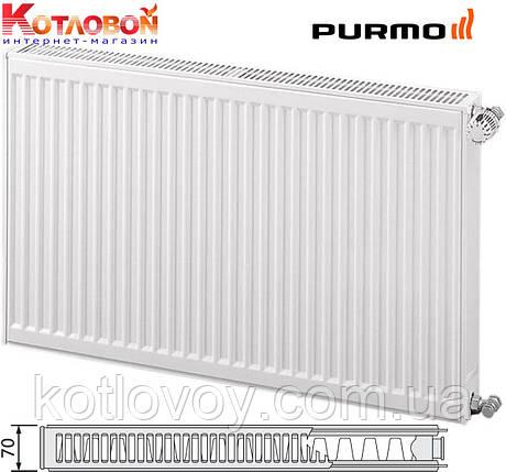 Стальные радиаторы PURMO Compact (Пурмо Компакт) 21 тип (С21S), боковое подключение, 600х2600, фото 2