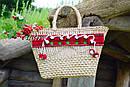 Сумочка ручной работы, плетеная сумка  декорированная в этно стиле, фото 6