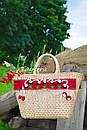 Сумочка ручной работы, плетеная сумка  декорированная в этно стиле, фото 4