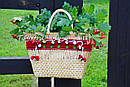 Сумочка ручной работы, плетеная сумка  декорированная в этно стиле, фото 8