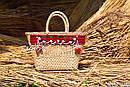 Сумочка ручной работы, плетеная сумка  декорированная в этно стиле, фото 5