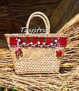 Сумочка ручной работы, плетеная сумка  декорированная в этно стиле, фото 7
