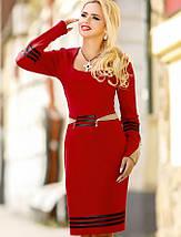 Женское трикотажное платье с длинным рукавом (0993-0992 svt), фото 2