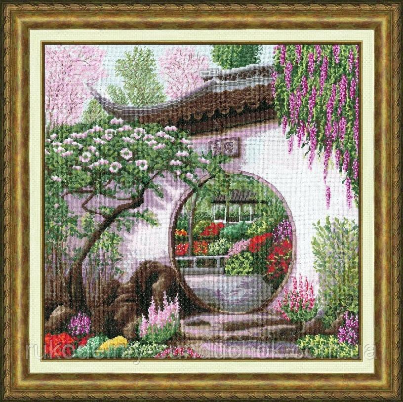 """Набір для вишивання хрестом ТМ Золоте Руно """"Весна в Японії. Далекі дороги """" ДЛ-031"""