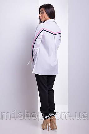 Женская рубашка с завязками на рукавах (Кураж lzn), фото 2