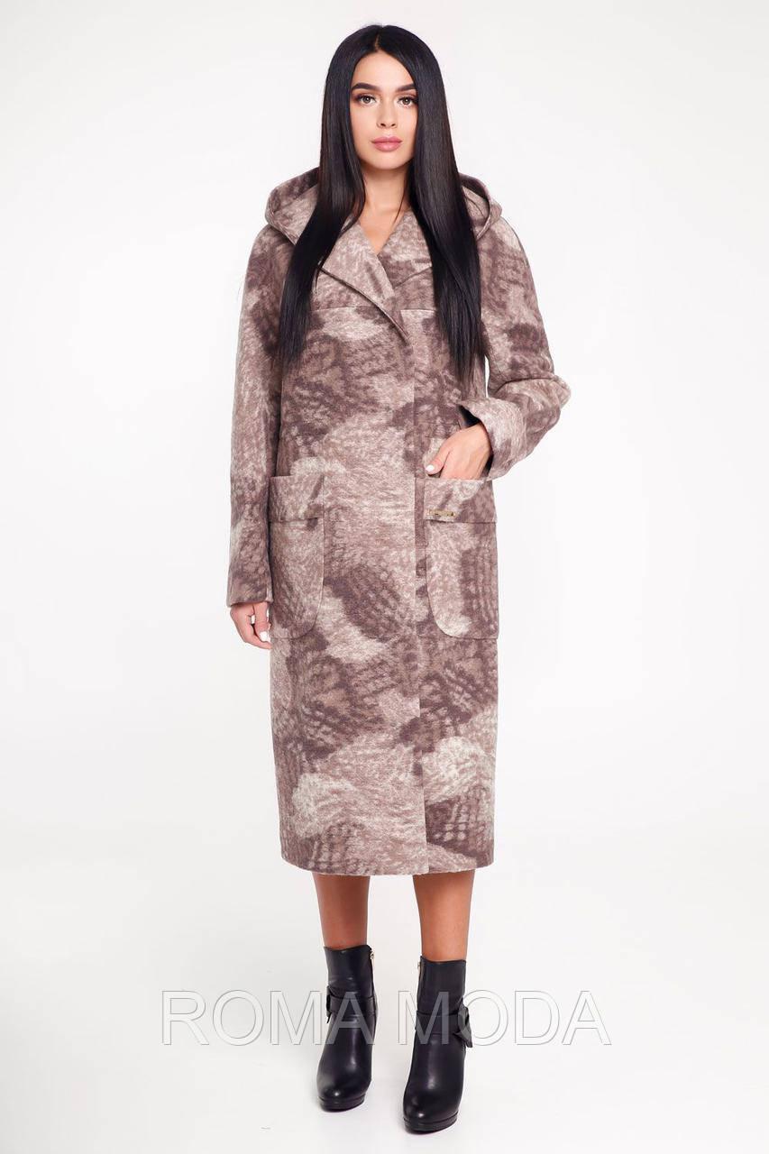 Красивое пальто женское с капюшоном В-1120 Seul Jaco