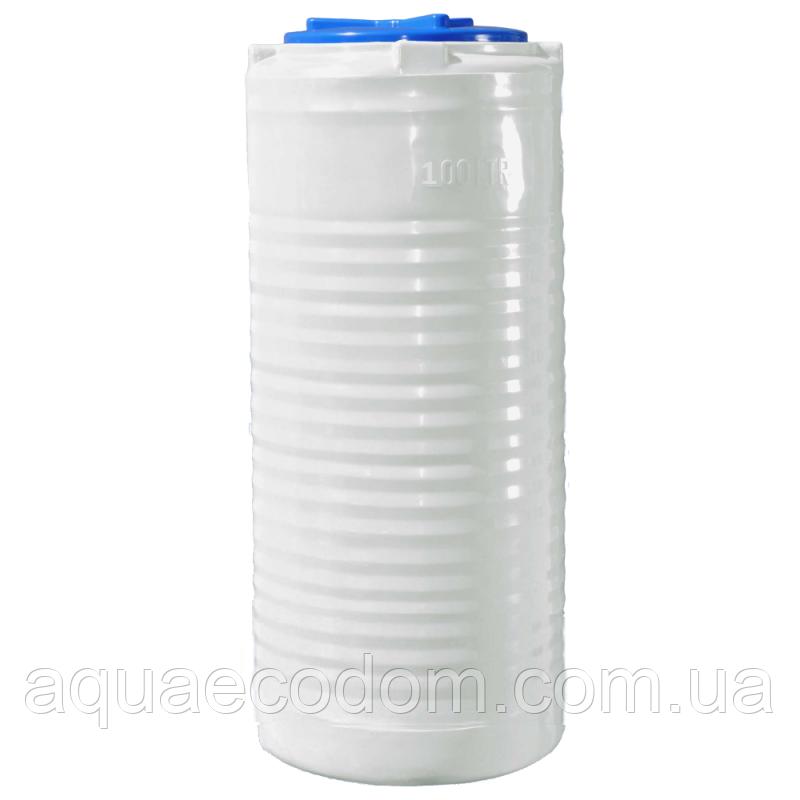 Емкость 100 литров узкая (вертикальная).