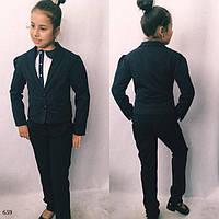Пиджак для девочки школьный мадонна/тиар р140,146,152