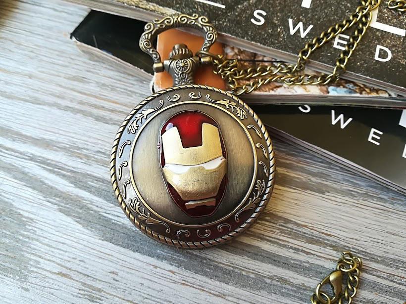 Часы Кулон Железный Человек Iron Man