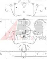 Комплект тормозных колодок, дисковый тормоз A.B.S. 37509 на MERCEDES-BENZ R-CLASS (W251, V251)