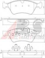 Комплект тормозных колодок, дисковый тормоз A.B.S. 37507 на MERCEDES-BENZ R-CLASS (W251, V251)