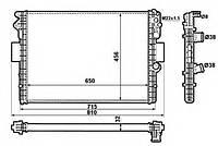 Радиатор, охлаждение двигателя NRF 53612 на IVECO DAILY III c бортовой платформой/ходовая часть