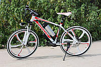 Элитный велосипед электрический PORSCHE BRAND BIKE CARBON с литими ободами мощность двигателя 500 ВТ Белый