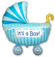 Фольгированный шар Коляска для мальчика 89х74 см (Flexmetal)