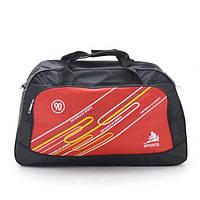 58cd08140227 Сумка дорожная, спортивная, командировочная цвет черный с красным  вместительная и качественная