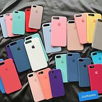 Apple Silicone Case чехол на iPhone/Айфон 5/6/7/8/X/Plus ЛУЧШЕЕ КАЧЕСТВО