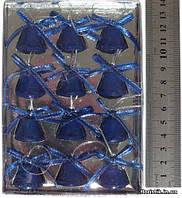 Набор колокольчиков, метал, синие, 12 шт., 2,3 х 2 см.