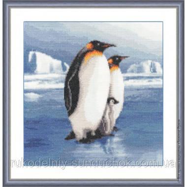 """Набор для вышивания крестом ТМ Золотое Руно """"Пингвины"""" З-025"""