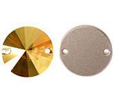 Rivoli 12mm Crystal Metallic Sunshine