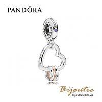 Pandora Шарм-подвеска ОСОБЕННОЕ СЕРДЦЕ #787247NLCMX PANDORA Rose Пандора оригинал, фото 1